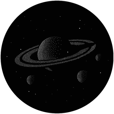 Saturn with Stars - GAM Gobo #T25