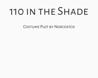 110 in the Shade Costume Plot | by Norcostco