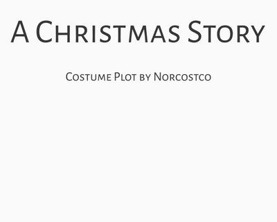 A Christmas Story Costume Plot | by Norcostco