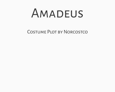 Amadeus Costume Plot | by Norcostco