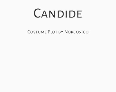 Candide Costume Plot | by Norcostco