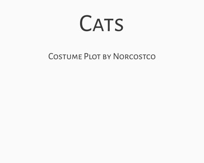 Cats Costume Plot   by Norcostco