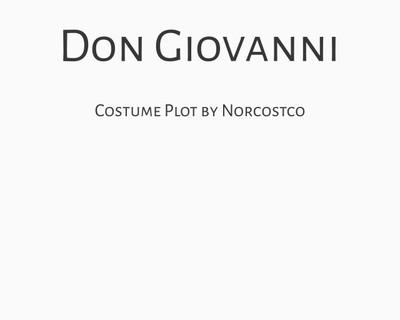 Don Giovanni Costume Plot   by Norcostco