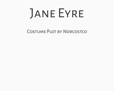 Jane Eyre Costume Plot | by Norcostco