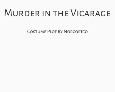 Murder at the Vicarage Costume Plot | by Norcostco