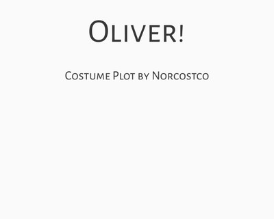 Oliver! Costume Plot | by Norcostco