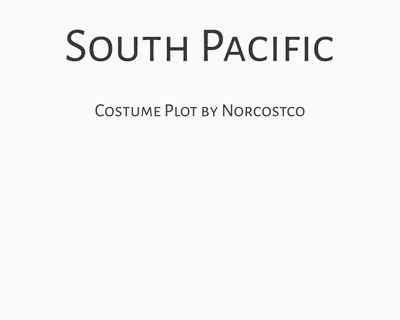 South Pacific Costume Plot | by Norcostco