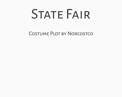 State Fair Costume Plot   by Norcostco
