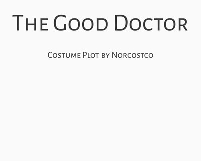 The Good Doctor Costume Plot | by Norcostco