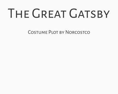 The Great Gatsby Costume Plot | by Norcostco