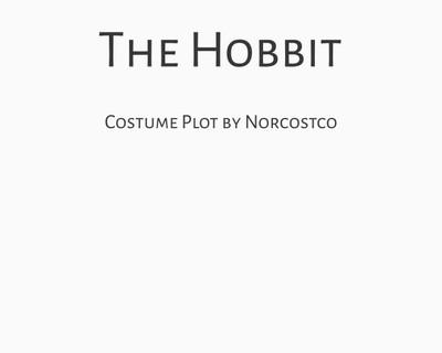 The Hobbit Costume Plot   by Norcostco
