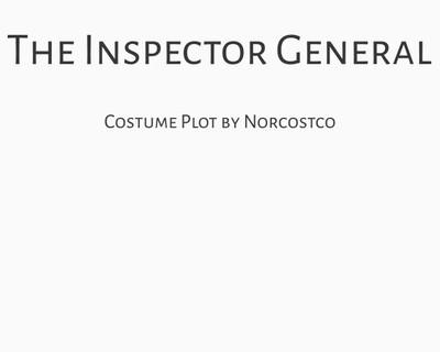 The Inspector General Costume Plot | by Norcostco