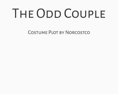 The Odd Couple Costume Plot | by Norcostco