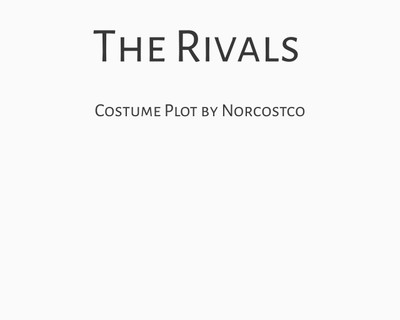 The Rivals Costume Plot | by Norcostco