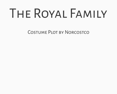 The Royal Family Costume Plot | by Norcostco