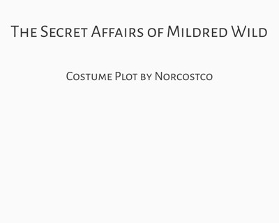 The Secret Affairs of Mildred  Wild Costume Plot | by Norcostco