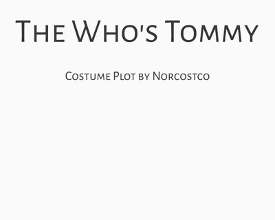 The Who's Tommy Costume Plot | by Norcostco