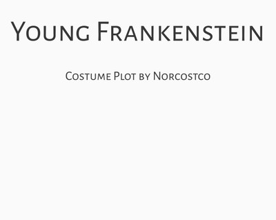 Young Frankenstein Costume Plot | by Norcostco