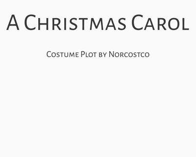 A Christmas Carol Costume Plot | by Norcostco