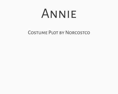 Annie Costume Plot   by Norcostco