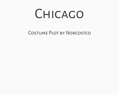 Chicago Costume Plot | by Norcostco