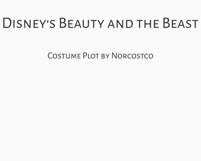 Disney's Beauty and the Beast Costume Plot | by Norcostco