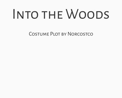 Into the Woods Costume Plot | by Norcostco