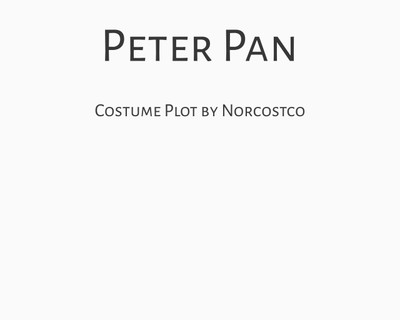 Peter Pan Costume Plot   by Norcostco