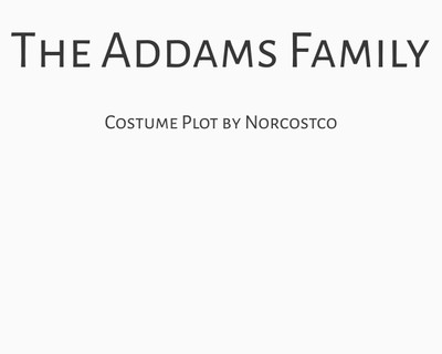 The Addams Family Costume Plot | by Norcostco