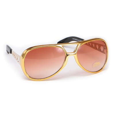 Rock & Roller Glasses - Gold with Brown Lenses