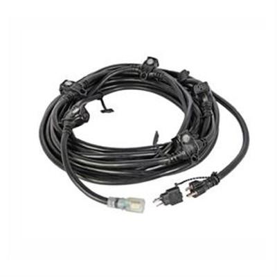E-String 6 Outlets 20amp 50ft Cord - Black