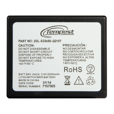 Tempest Lithium Polymer Battery