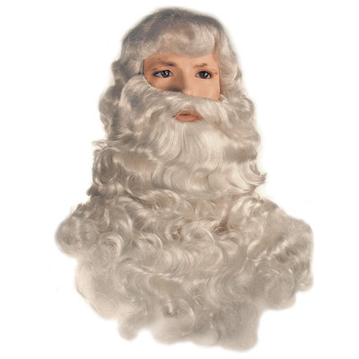 Santa Wig and Beard Set - Deluxe