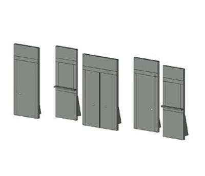 Model 5pc Door Set