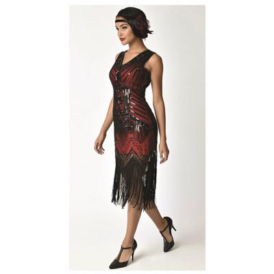Veronique Flapper Dress - Red