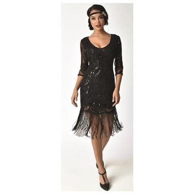 Margaux Flapper Dress - Black