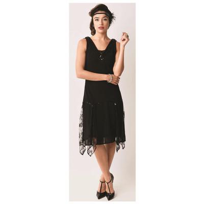 Hemingway Flapper Dress - Black