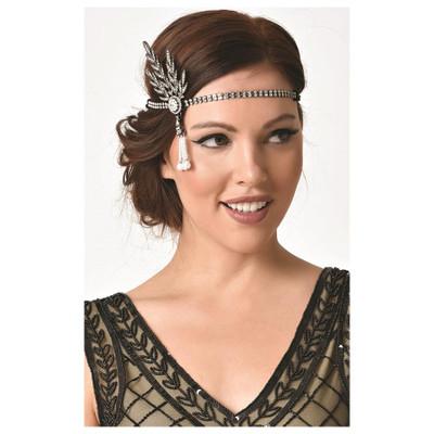 Pearl Dangle Premium Flapper Headband