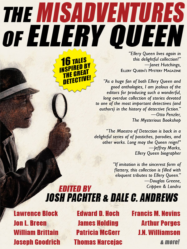 The Misadventures of Ellery Queen, edited by Josh Pachter and Dale C. Andrews (epub/Kindle/pdf)