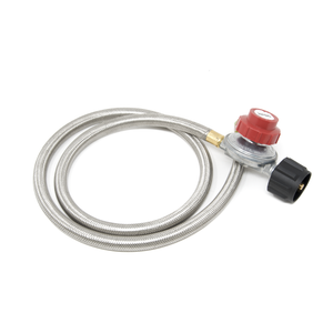 2113 0-20 PSI High Pressure Regulator w/Steel Braided Hose and Adjustable Dial / BOX PRICING