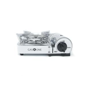 GS-800+ Portable Butane Mini Stove Set (w/Deep Pan, Tongs, & Scissors)