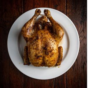 Free Range Whole Roast Chicken.