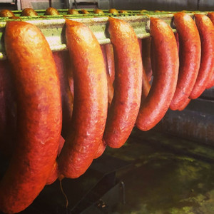 Our cooked Chorizo - Straight from the smokehouse.