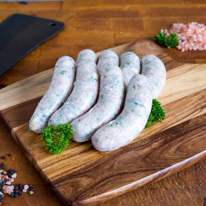 Chicken, Corn & Asparagus Sausages