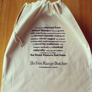 Instructions for storing your ham printed on the bag