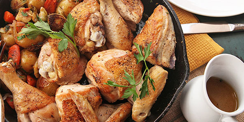 A delicious way to use a whole chicken.