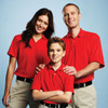 Red 16252 Moreno Men's Short Sleeve Polo Shirt - Models | Imprintables.ca
