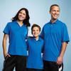 O. Blue 16252 Moreno Men's Short Sleeve Polo Shirt - Model 2 | Imprintables.ca