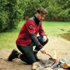 Dark Red/Black - model, 18155 Roots73 Men's Briggpoint Microfleece Jacket   Imprintables.ca