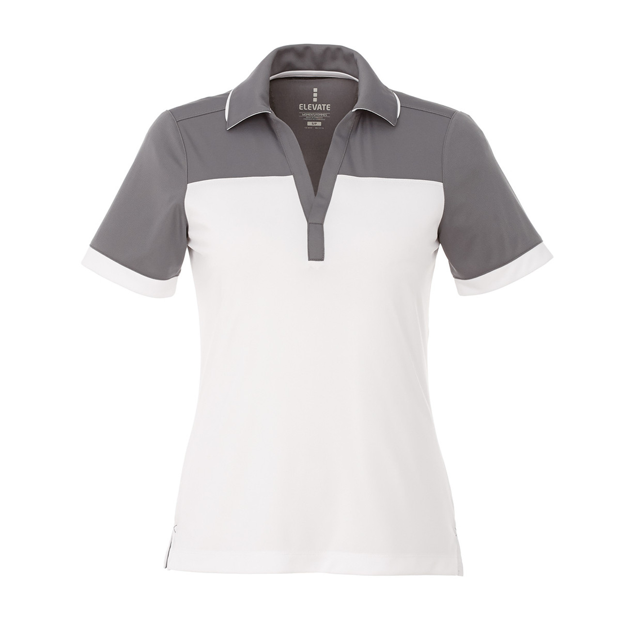 96308 Mack Women s Short Sleeve Polo Shirt · Steel Grey White - 96308 Mack Women s  Short Sleeve Polo ... df2b75c395